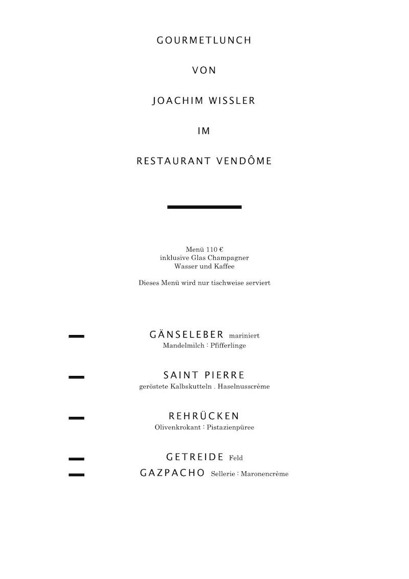 Joachim Wissler - Gourment Lunch Winter 2010