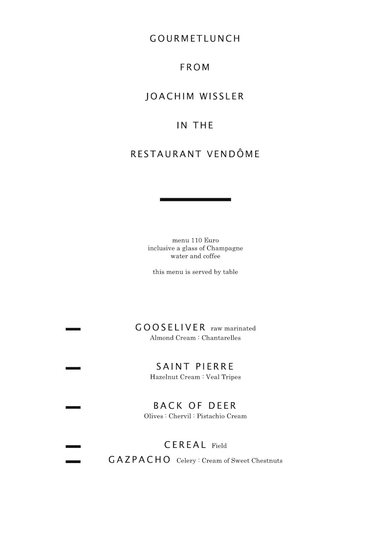 Joachim Wissler - Gourmet Lunch Winter 2010