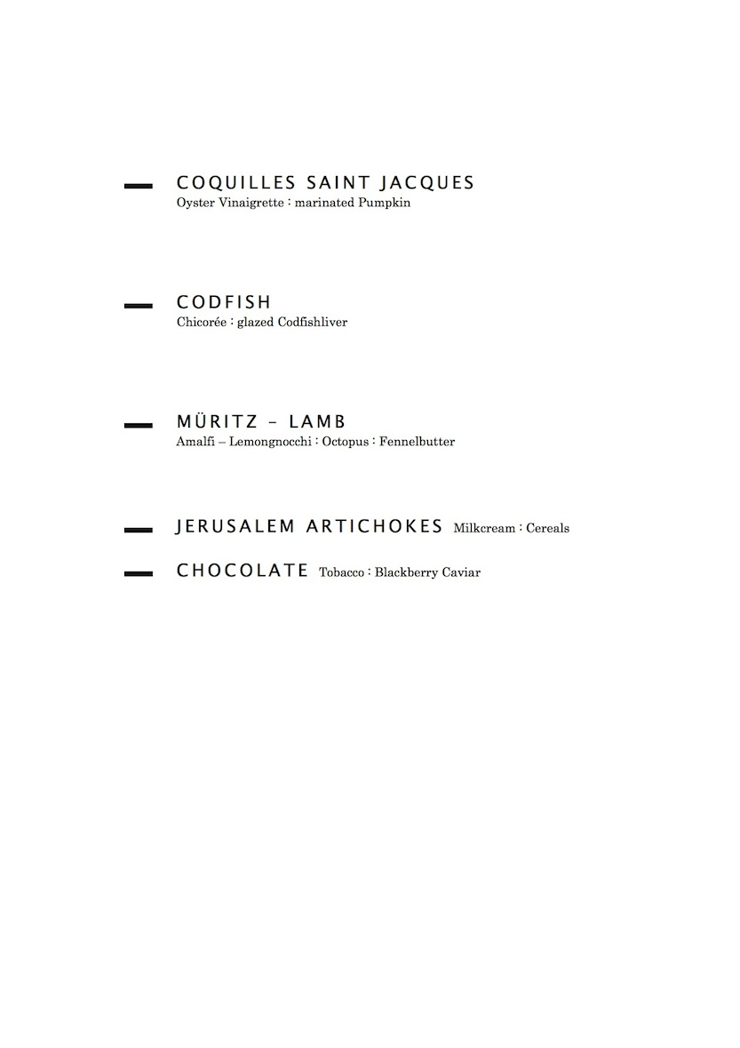 Menu Gourmetlunch 2012
